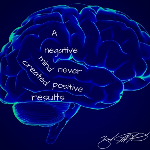 A negative mind never created positive results